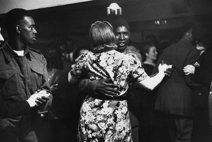 African-American Soldiers at London Dance Hall