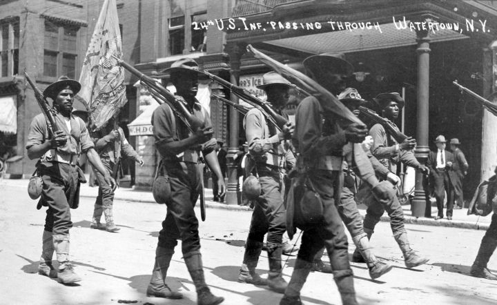 24th Us Infantry Passing Through Ny