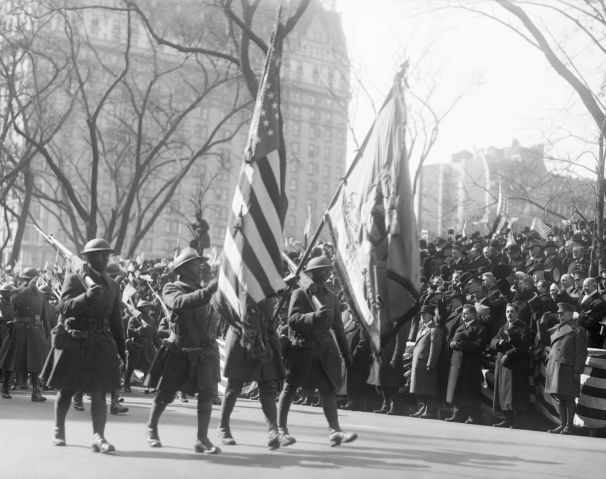 369Th Colored Infantry On Parade