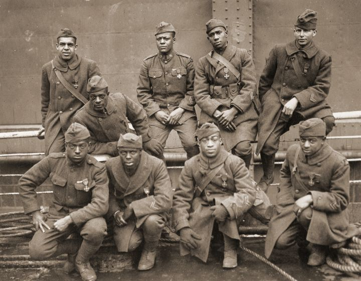 African-American soldiers in WWI