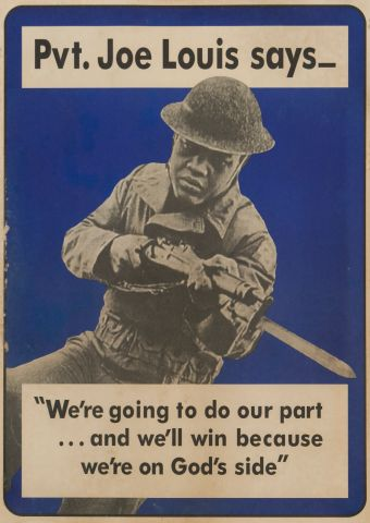 Pvt. Joe Louis Says Poster