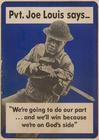 Pvt. Joe Louis Says Poster