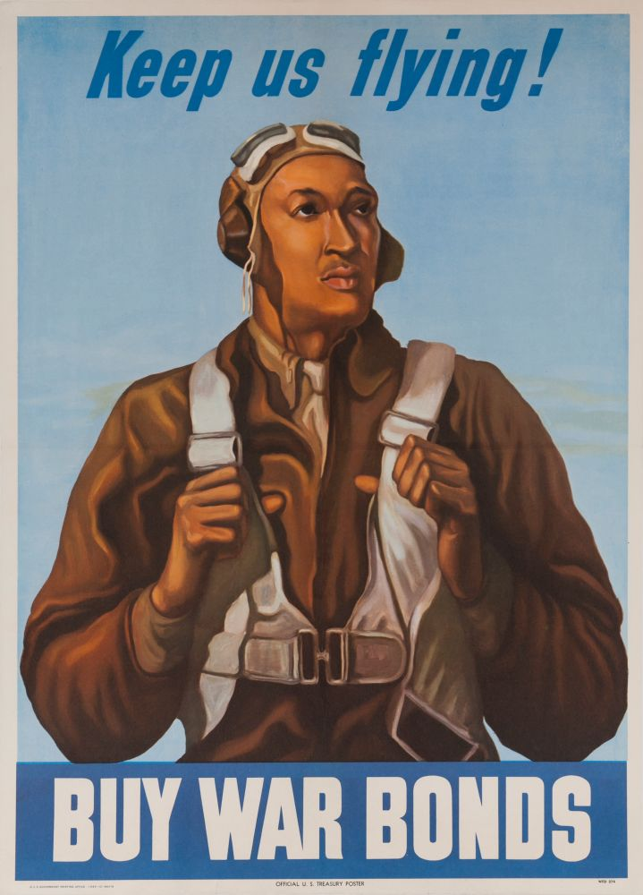 Keep Us Flying! Buy War Bonds, WWII Tuskeegee Airman Poster