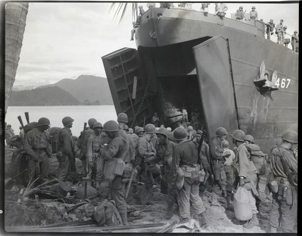 Black Troops Coming Ashore