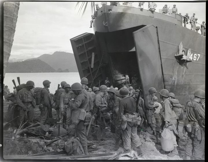 Black Troops Coming Ashore