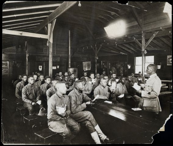 Bible Class Army Ymca African Am Wwi