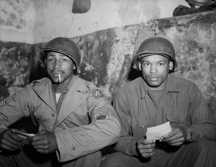 Soldiers Seated and Read Letters