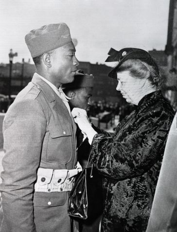 Eleanor Roosevelt Awarding the Soldier's Medal