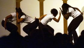Members of CSUN's sorority Delta Sigma Theta show the rhythmic 'step' dancing of black fraternities