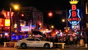 Beale Street in Memphis Tennessee at night