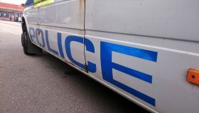 Close-Up Of Police Car On Road