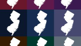 Vector New Jersey, USA Map in Dark Colors