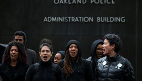 Protestors Chain Themselves To Oakland PD Headquarters