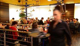 Fast Food Served Up at Roller Coaster Restaurant!