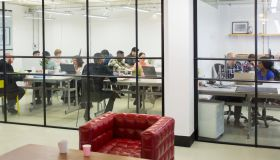 Business people working in conference room and office