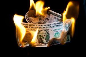 Dollar In Flames