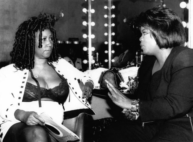 Aretha Franklin And Oprah Winfrey In New York City