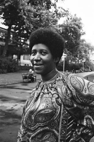 Aretha Fanklin pictured in the summer of 1970