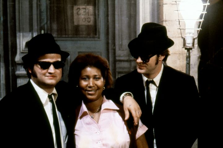 On the set of The Blues Brothers