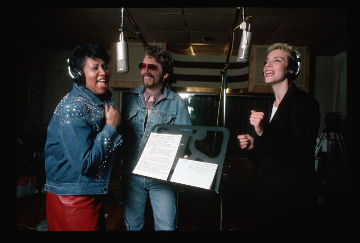 Aretha Franklin, Annie Lennox, and Dave Stewart