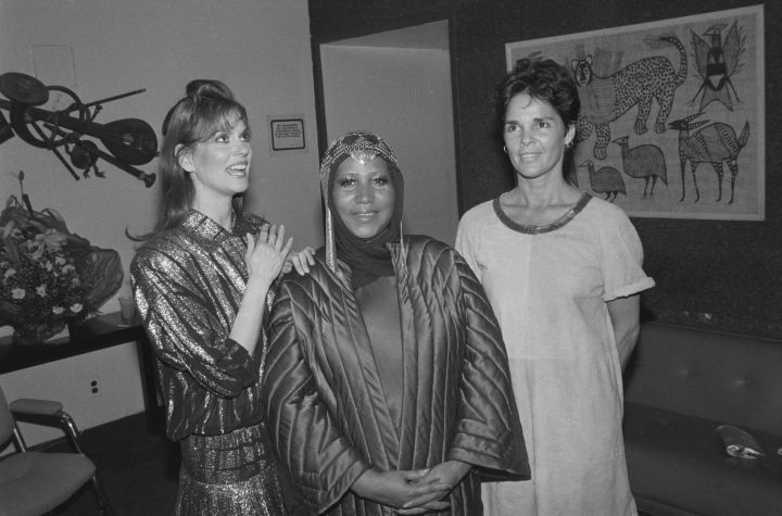 Lesley Ann Warren, Aretha Franklin, and Ali MacGraw