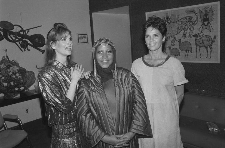 Lesley Ann Warren, Aretha Franklin, and Ali MacGraw