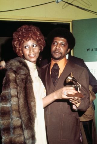 Aretha Franklin Standing with Her Brother