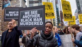 Hundreds of people took to the streets to protest in New...