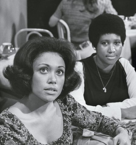 Denise Nicholas And Aretha Franklin On 'Room 222'