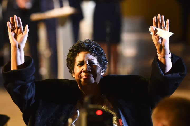 Aretha Franklin performs during World Meeting of Families 2015