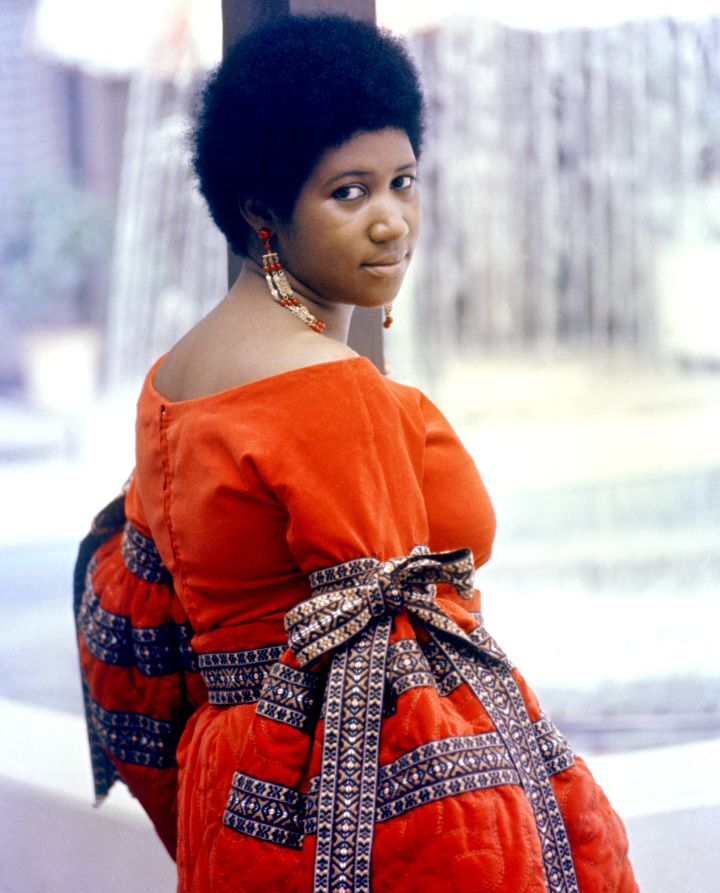 Aretha Franklin Color Portrait