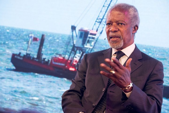 Kofi Annan visits the Netherlands