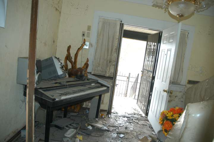 Fats Domino's Studio in Lower Ninth Ward After Katrina
