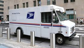 Editorial - Close-up of A US Postal Service Delivery truck