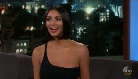 Kim Kardashian West during an appearance on ABC's Jimmy Kimmel Live!'