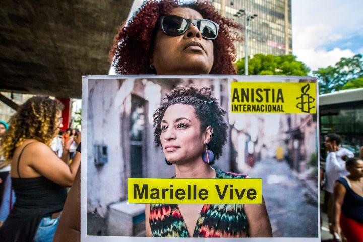 Brazilians Marking One Month Of Activist Marielle Franco's Murder