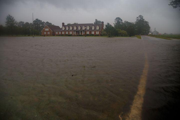 Hurricane Florence Flooding and Destruction In North Carolina