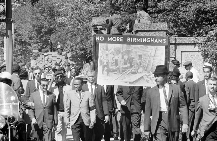 The Congress of Racial Equality conducted march.