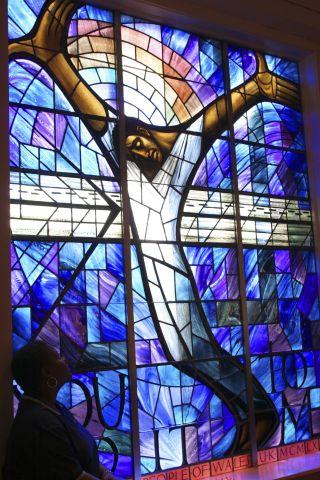 Alabama, Birmingham, 16Th Street Baptist Church Stained Glass Window