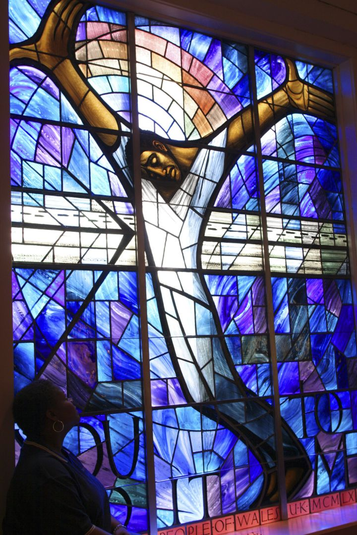 Alabama, Birmingham, 16Th Street Baptist Church Stained Glass Window