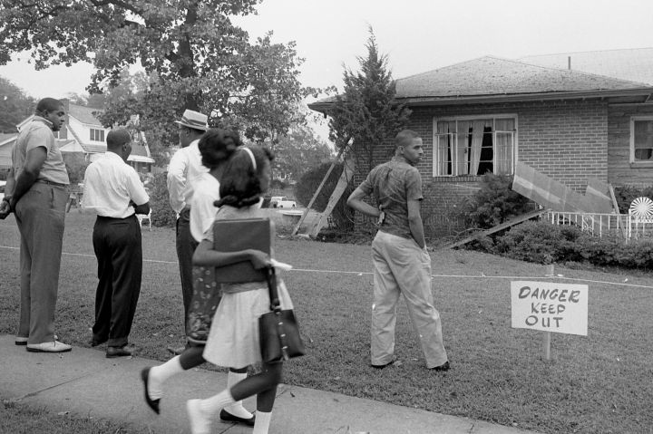 Bomb-damaged home of Arthur Shores, NAACP attorney
