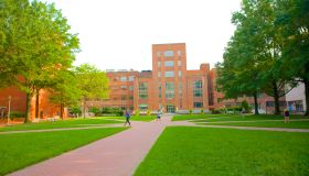 Open campus space at GWU, Washington, D.C.