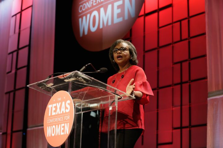 Hill speaks at the Texas Conference For Women in 2017