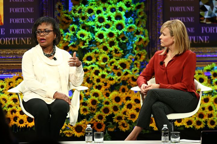 Hill speaks at Fortune's Most Powerful Women Summit in 2016