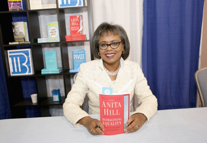 Hill signs books at the Pennsylvania Conference For Women in 2016