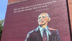 Obama Elementary School Mural in Jackson, Mississippi