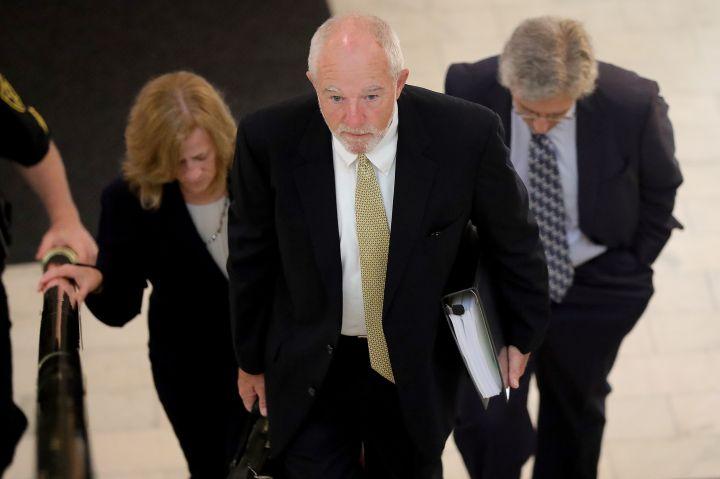 Defense lawyer arrives