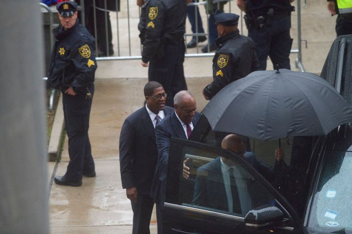 Cosby arrives for Day 2