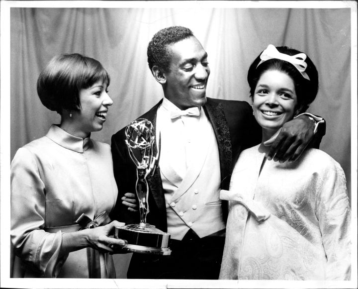 Emmy Winner Bill Cosby With Camille Cosby And Carol Burnett In 1966