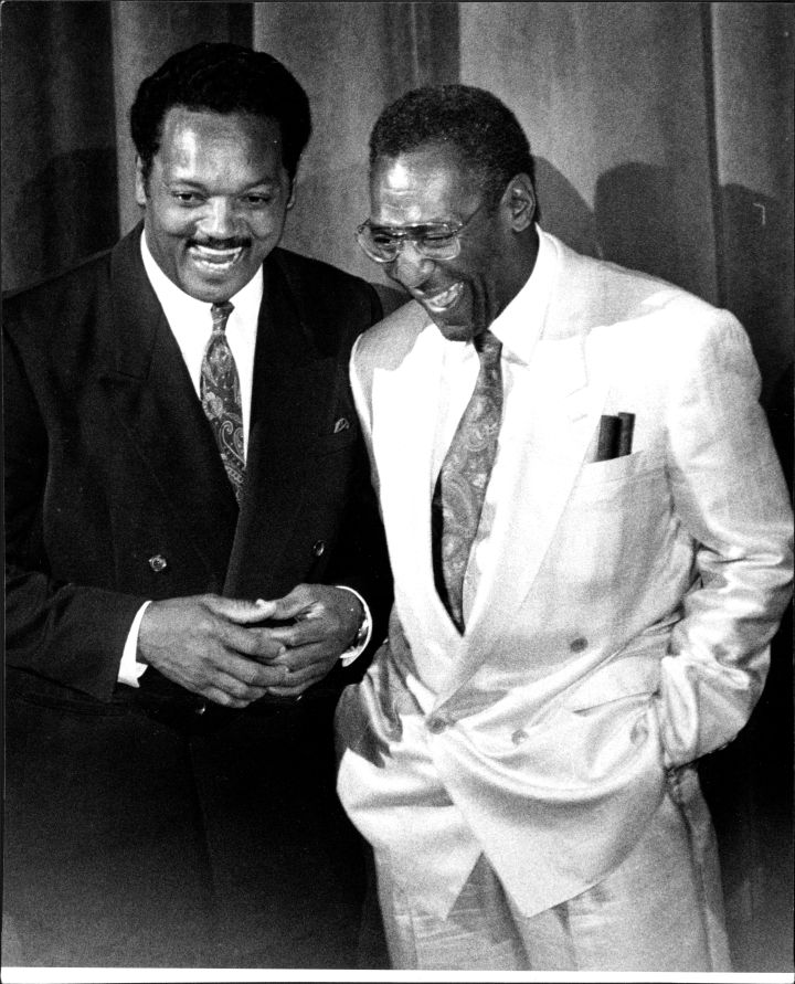 Bill Cosby With Jesse Jackson In 1981
